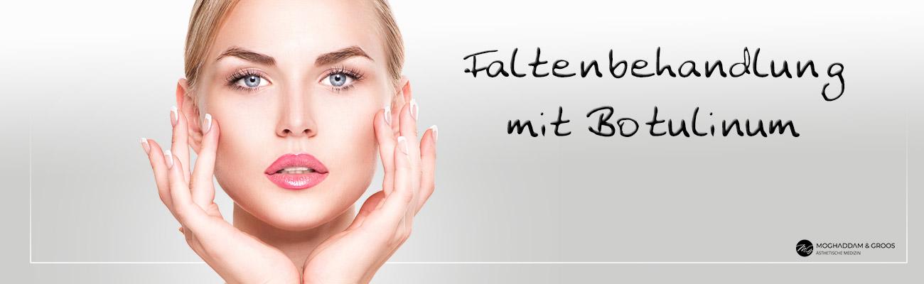Faltenbehandlung mit Botox (Botulinum)- Banner