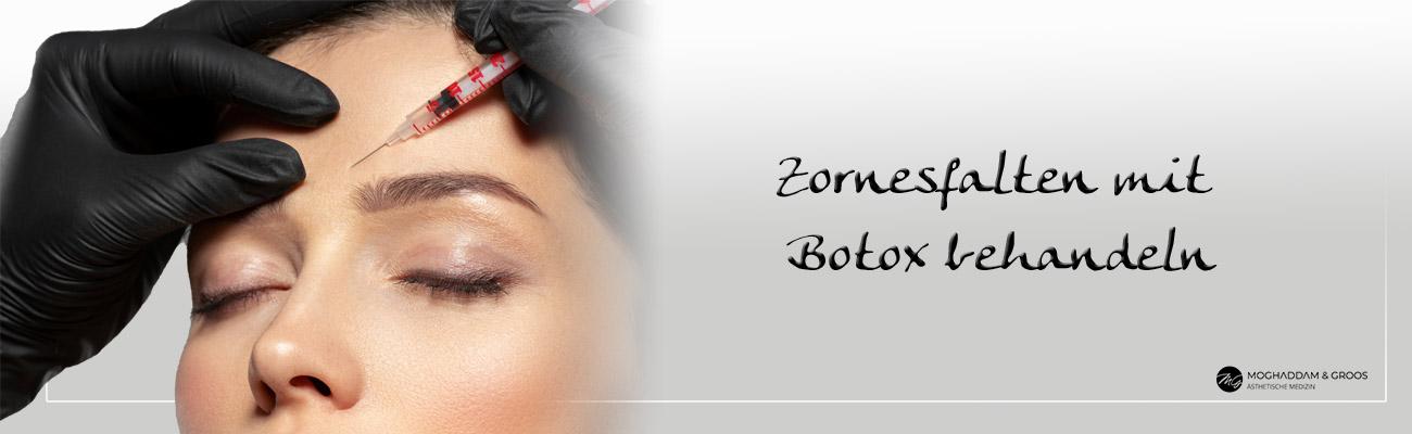 Zornesfalten mit Botox behandeln